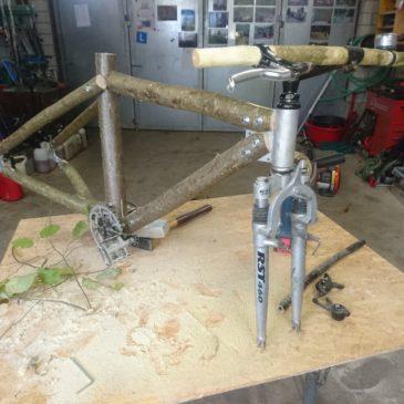 Bau eines Farradrahmen aus Holz