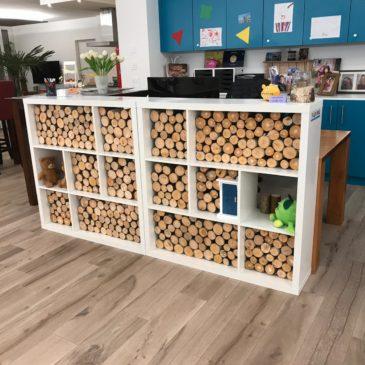 Holz bereitstellen für eine Dekoration