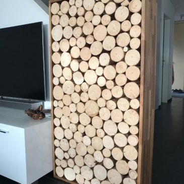 Bereitstellen von Holz für eine Dekoration